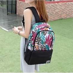Top Seeka - Leaf Print Backpack