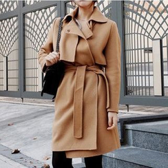 Fashion Street - Plain Wool Coatdress