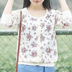 tete - Floral Knit Cardigan