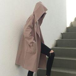 Cloud Nine - Hooded Long Coat