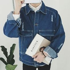 Weroni - Distressed Denim Jacket