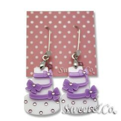 Sweet & Co. - Sweet Purple dolly cake swarovski dangle earrings