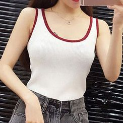 Fashion Street - Tipped Tank Top