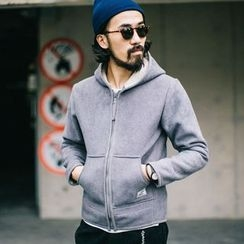 YIDESIMPLE - Fleece-Lined Hooded Jacket