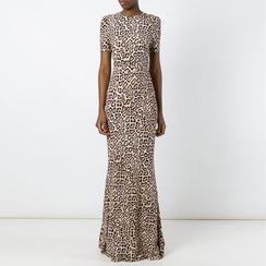 Dream a Dream - Short-Sleeve Backless Maxi Dress