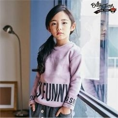 BILLY JEAN - Kids Brushed Fleece Lined Lettering Top
