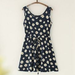11.STREET - Sleeveless Floral Dress