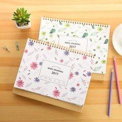 OH.LEELY - Floral Print 2017 Desktop Calendar