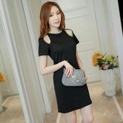 Bornite - Cutout Short-Sleeve Sheath Dress
