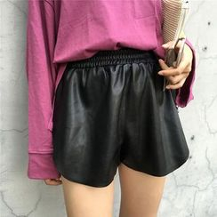 Bloombloom - Faux Leather Shorts