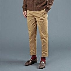 THE COVER - Flat-Front Straight-Cut Pants