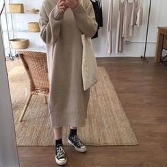 monroll - Plain Midi Sweater Dress