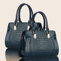 兔贝贝 - 鳄鱼纹手提包