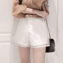 Maine - High-Waist Tulle Shorts