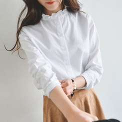 JUSTONE - Ruffled Collar Blouse
