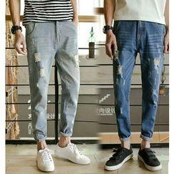 优凡士品 - 做旧牛仔裤