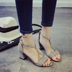 Yoflap - Strappy Block Heel Sandals