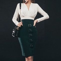 Yilda - Belted Pencil Skirt