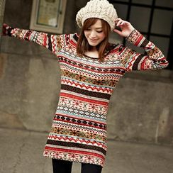 Tokyo Fashion - Nordic Print Sweater Dress