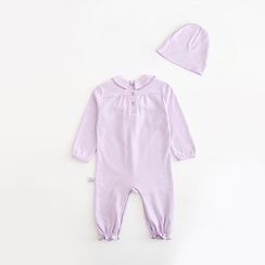 MOM Kiss - Baby Set : Bow One Piece + Hat