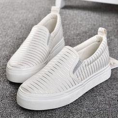 BUDING - 厚底帆布便鞋
