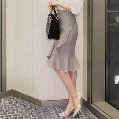 Amella - Ruffled Midi Skirt