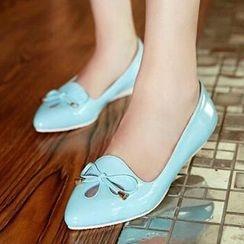 Tomma - 蝴蝶结通花平跟鞋