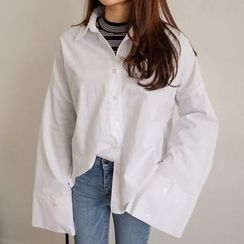 PPGIRL - Bell-Sleeve Loose-Fit Shirt