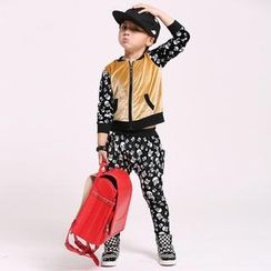 Lullaby - Kids Set: Skull Print Zip Jacket + Sweatpants
