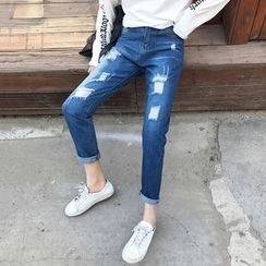 Windflower - Washed Distressed Jeans