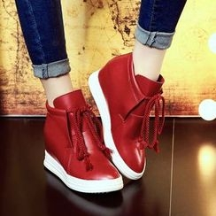 JY Shoes - Hidden Wedge Ankle Boots