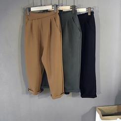 Coolvibe - Plain Cropped Pants