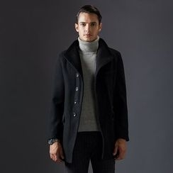 Bingham - Wool Blend Lapel Coat