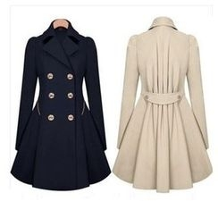 Persephone - Double-Breasted Trench Coat