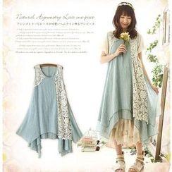Nectarine - Lace Panel Tank Dress