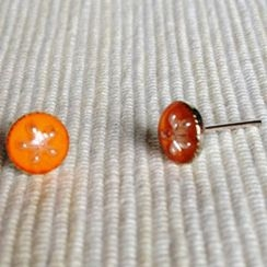 MyLittleThing - Resin Little Snowflake Earrings (Orange)