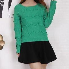 Fashion Street - Set : Knit Top + Skirt