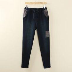 Tangi - Patchwork Drawstring Pants
