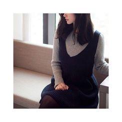 MASoeur - Mock Two-Piece Knit Dress