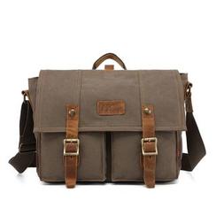 AUGUR - Buckled Canvas Messenger Bag