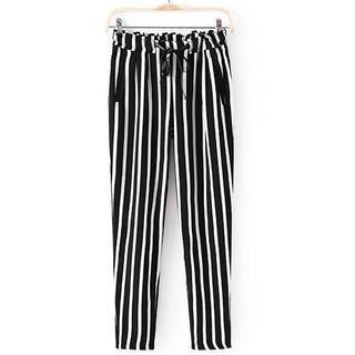 JVL - Elastic-Waist Stripe Pants