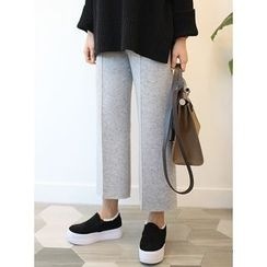STYLEBYYAM - Band-Waist Wide-Leg Knit Pants