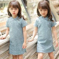 Candy Baby - 儿童短袖蕾丝连衣裙