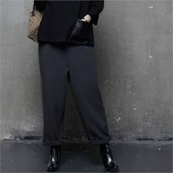 HALUMAYBE - Zip-Side Wide-Leg Dress Pants