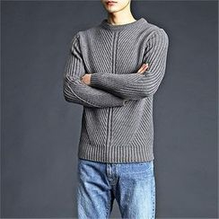 THE COVER - Ribbed Knit Sweater