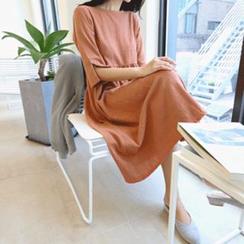Hello sweety - 3/4-Sleeve A-Line Dress