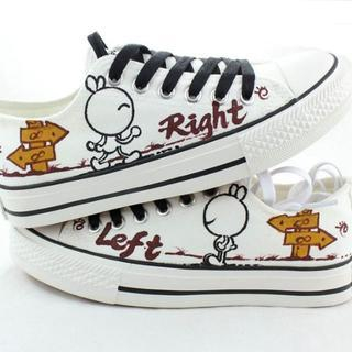 HVBAO - Painted Rabbit Lace-Up Canvas Sneakers