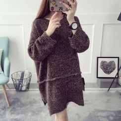 Qimi - Melange Long Sweater