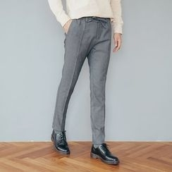 DANGOON - Band-Waist Dress Pants