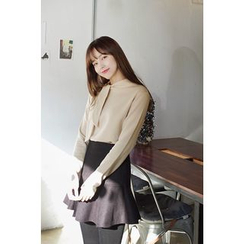 CHERRYKOKO - Tie-Neck Long-Sleeve Top
